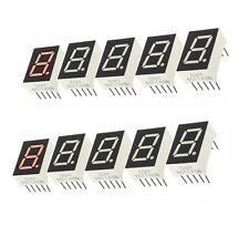10pcs Red 7 Segment 0.5'' LED Display Digital Tube Common Anode 1 Bit  NEW CA
