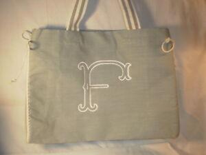 mud pie gray initial f tote diaper bag 718540325728 ebay