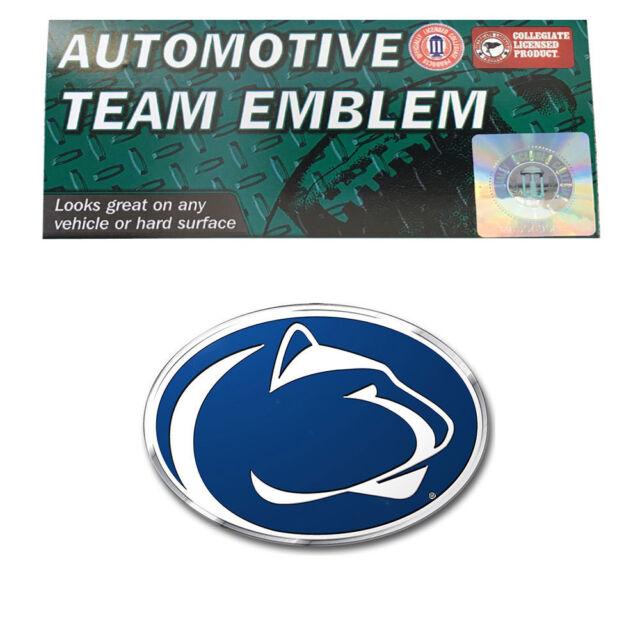 Penn State Nittany Lions Psu Ncaa Die Cut 3d Aluminum Embossed Car