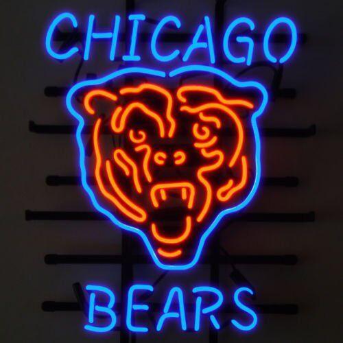 "New Chicago Bears Orange Neon Light Sign 20\""x16\"""