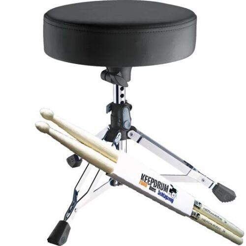 K/&M 14010 Drummersitz Drumhocker Piccolino extraTief keepdrum Drumsticks