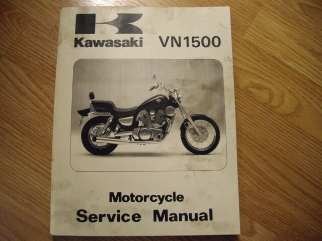 Kawasaki Vn 1500 Vulcan Service Manual Oem Repair Book
