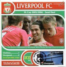 Liverpool 2005-06 Chelsea (Luis Garcia) Football Stamp Victory Card #537