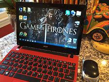 Cherry Red Acer 725 C-70 4GB 320GB, Radeon HD, Win7or10 MsOffice *FREE GoT S1-6*