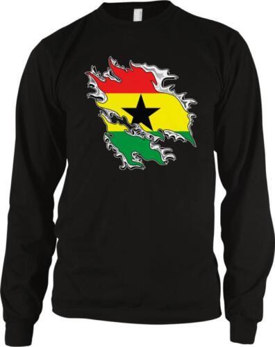 Republic of Ghana Shred Flag Ghanaian Pride  Long Sleeve Thermal