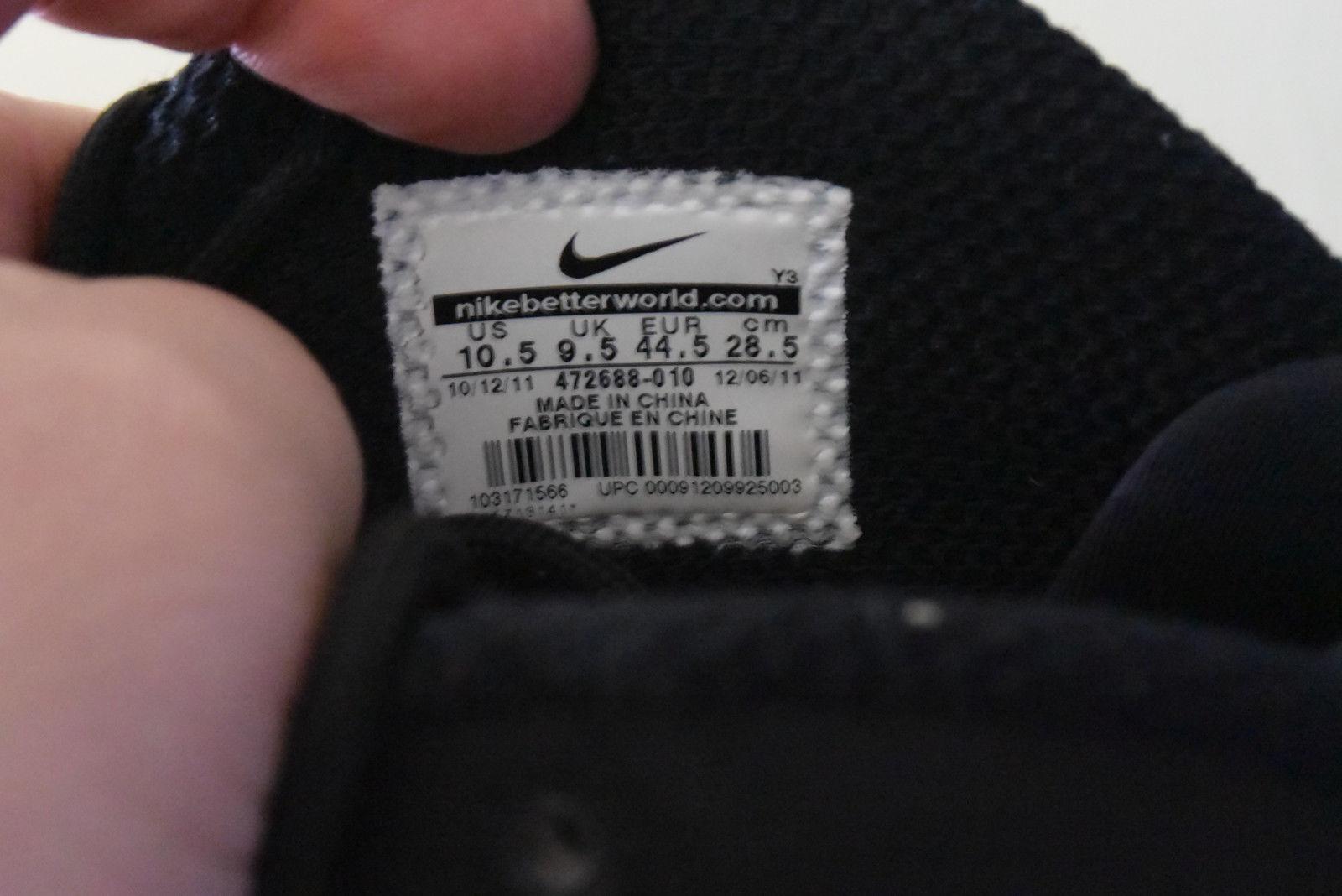 Nike / Zoom Recluta Nero / Nike Antracite 472688-010 Sz.10,5 70dfa2