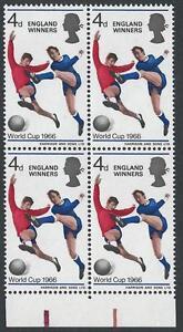 1966 England Winners - Listed Flaw - Broken Shadow - MNH