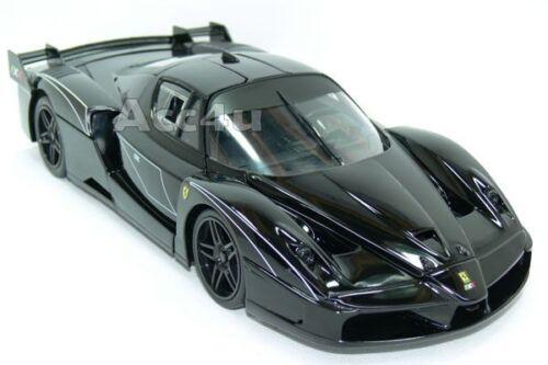 Hot Wheels Ferrari Black FXX Evoluzione 1:18 Diecast Model Car