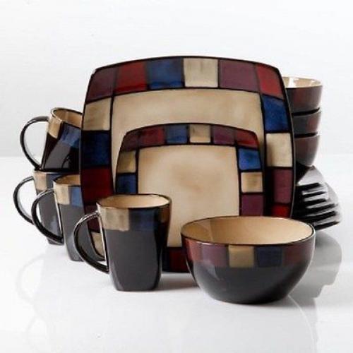 Réduction Dinnerware Sets 32 Pièce Vaisselle Set de plats de service pour 8 jeu