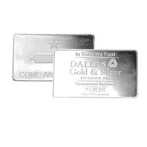 10-oz-DGSE-0-999-Silver-Bar-Cannon-Symbol-Stamped