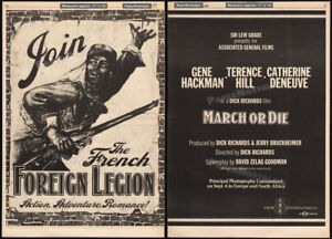 MARCH-OR-DIE-Orig-1976-Trade-AD-poster-French-Foreign-Legion-GENE-HACKMAN