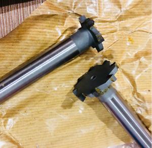 New 1pc 12*3*8*80L*4 Carbide tipped T slot cutter Welding carbide T cutter