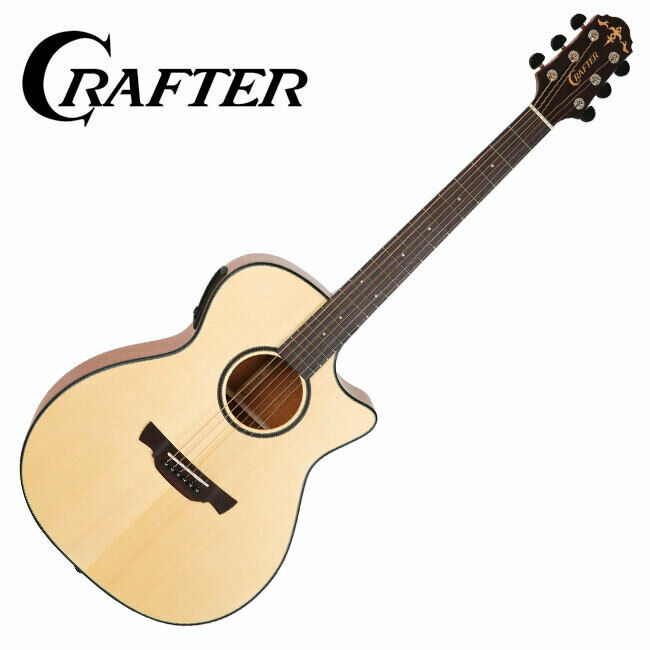 Crafter KTXE-650 ABLE Cutaway L.R.Baggs Pickup EQ Orchestra Body Acoustic Guitar