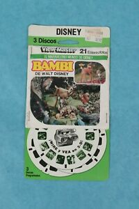 VINTAGE VIEW-MASTER 3D REEL PACKET B400-S DISNEY'S BAMBI IN SPANISH SEALED