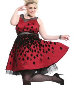 Red Harley Quinn Batman Cosplay Prom Plus Size Xl Dress Hot Topic