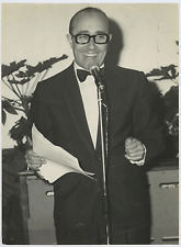 Italia, Lello Bersani, giornalista italiano  Vintage silver print Tirage argen