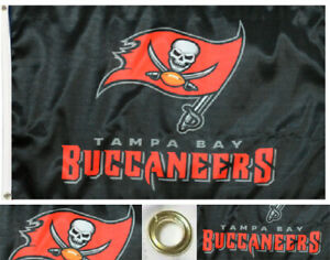 Tampa Bay Buccaneers Flag ~ Large 3'X5' ~ NFL Banner ~ FREE SHIPPING