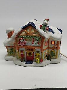 Christmas-Toy-Shop-Ceramic-lighted-Vintage-039-94-village-shop-RETAILER