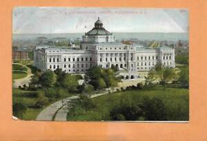 U-S-CONGRESSIONAL-LIBRARY-WASHINGTON-DC-1908-VINTAGE-POSTCARD