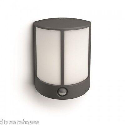 "neuf Philips 16465//93//16 /""stock/"" superbe qualité mural noir lanterne IP44 pir"