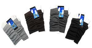 PRESKIN-Stylische-Stulpen-Handschuhe-Armstulpen-uni-grau-ideal-fuer-s-Smartphone