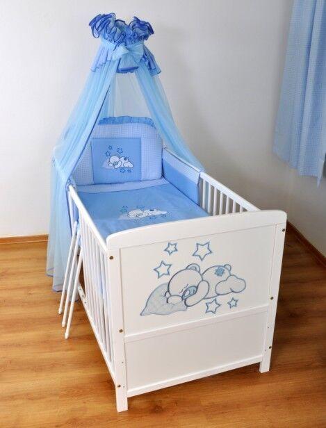 3-teiliges Bettset mit Stickeree nr 10 Kinderbett Juniorbett 120x60 3x1 Neu