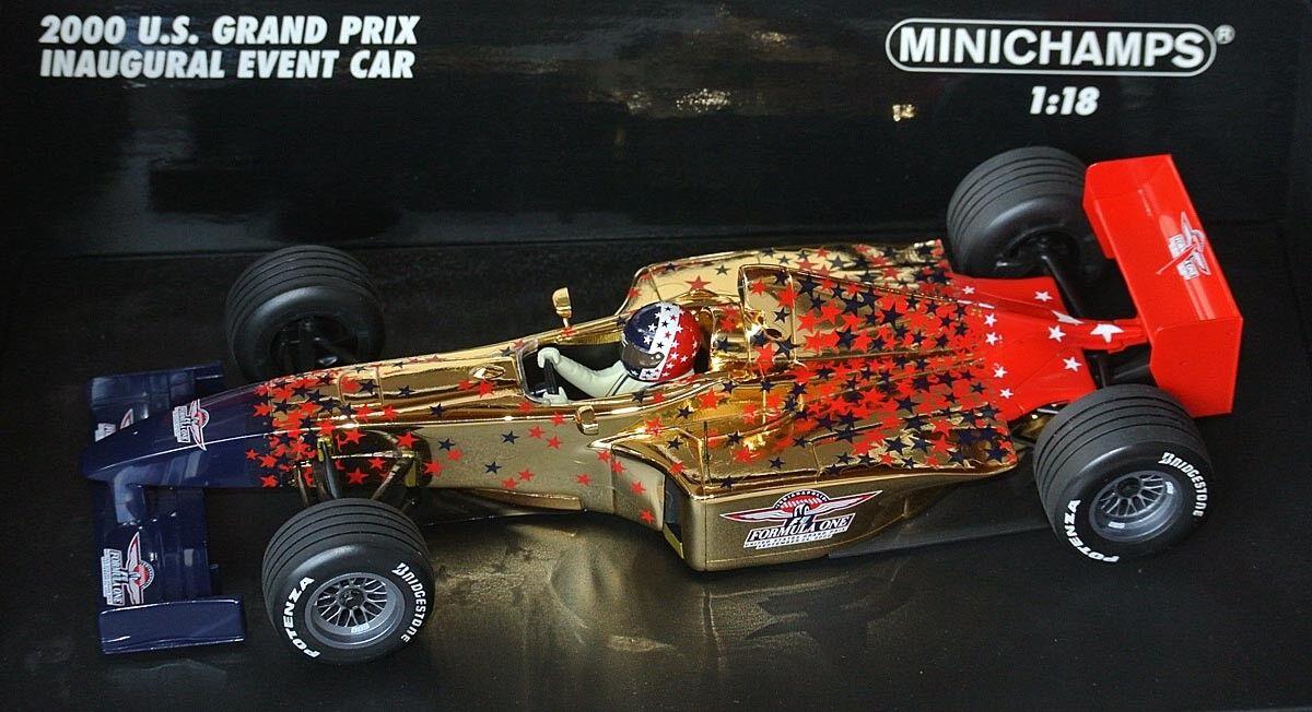 Minichamps f1 formule 1 - 2000 U.S. GRAND PRIX EVENT CAR-or plated 1 18 Lim