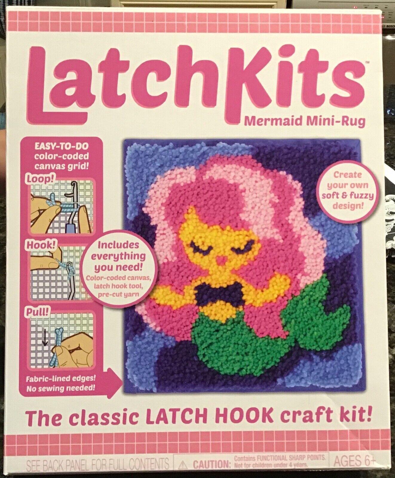 Kahootz Latch Kits Unicorn Mini-Rug Sewing Kit