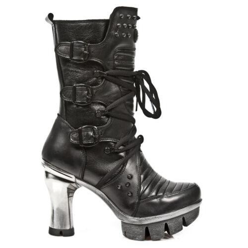 donna Stivali Rock Newrock nera Piattaforma Neopunk004 pelle S1 in gotici Rare New da tsxChQdr
