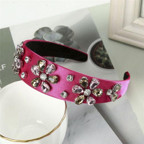 Baroque Ladies Embellished Headband Jewelled Hairband Crystal Crown Tiare Party