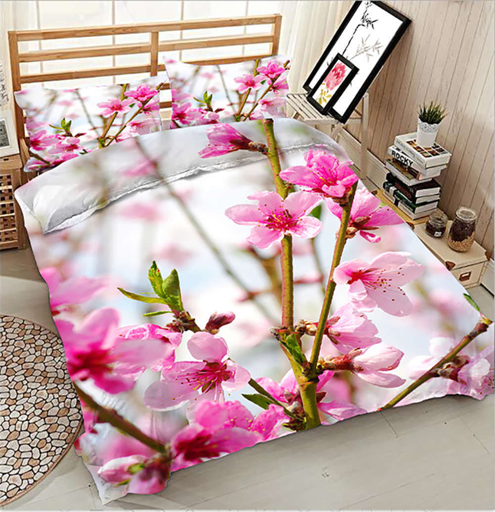 Coquettish Peach 3D Printing Duvet Quilt Doona Covers Pillow Case Bedding Sets