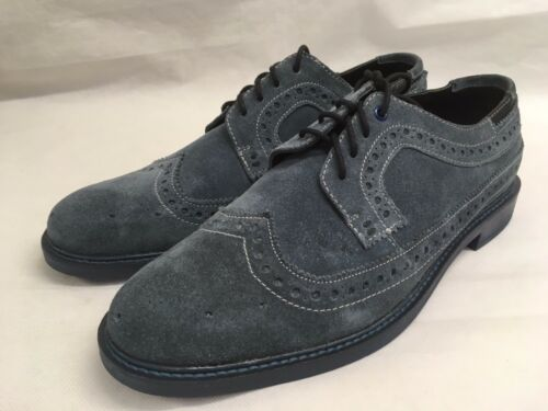 brogue scamosciata pelle da 8 uomo blu in Uk Scarpe Goodwin Smith xZ1YaqZ