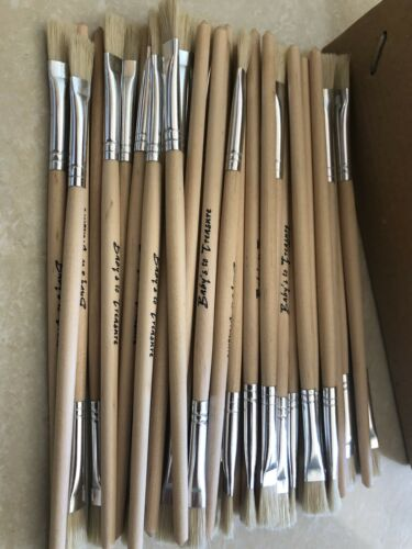 15 Pcs Flat Paint Brushes Small Brush Bulk for Detail Painting Craft Art Gift