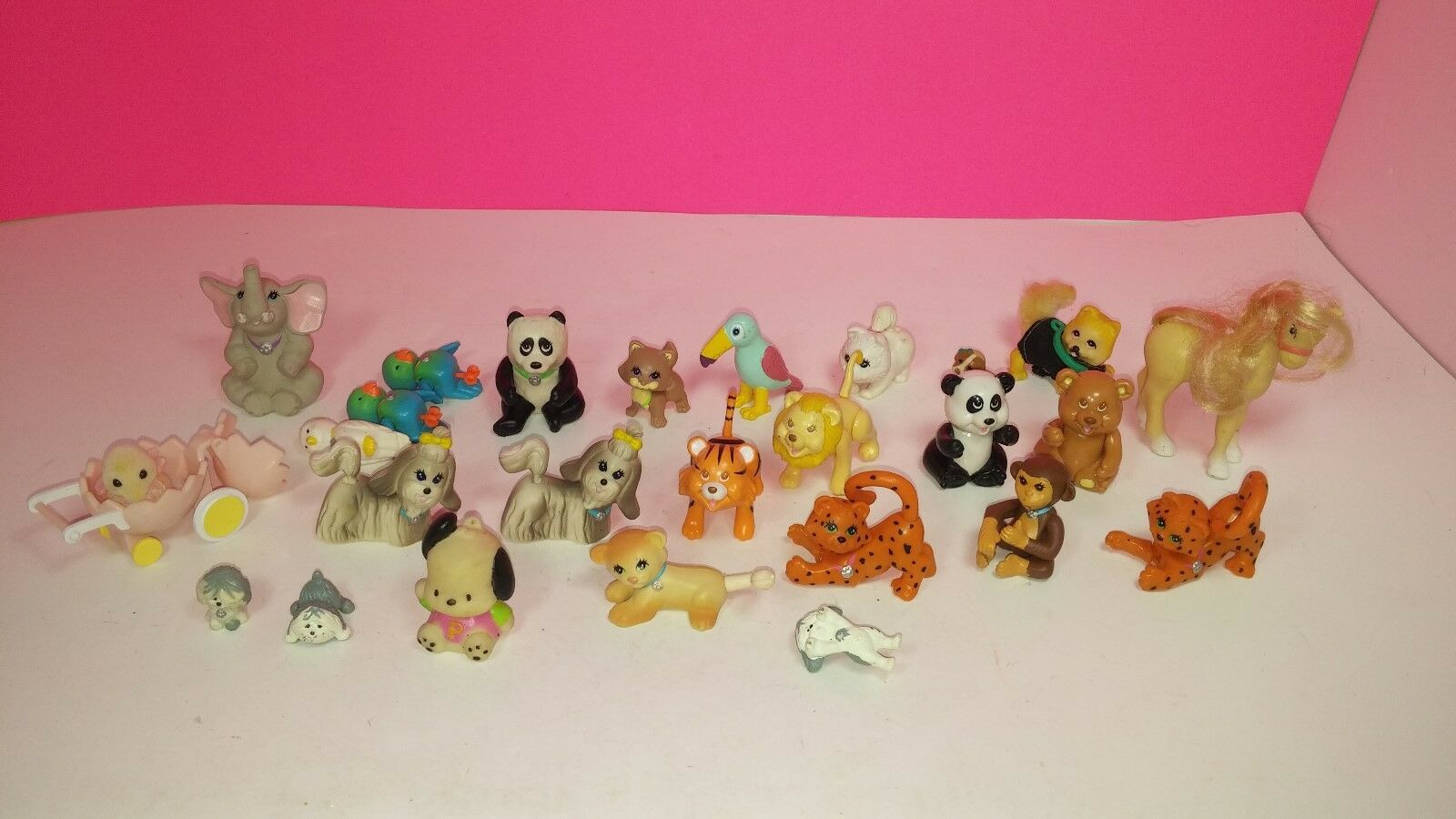 Kenner My Littlest Pet Shop Vintage Figure Lot Lot Lot Elephant Panda Zoo Animal Calico 0f22b7