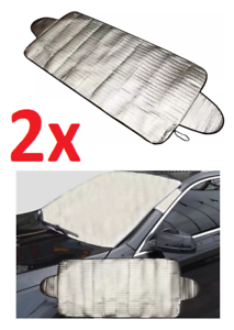 2x Car Windshield Snow Shade Cover 200CMx70CM to Prevent Frost Visor Protector