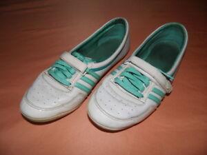 Details zu Adidas Concord Round Ballerinas Sleek Series weiß grün mit Lack Gr. 41 13