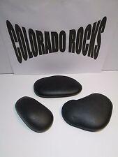 "New Black Basalt Hot Massage Stones, Large 4-6"" - 3 PC Set From Colorado Rocks"