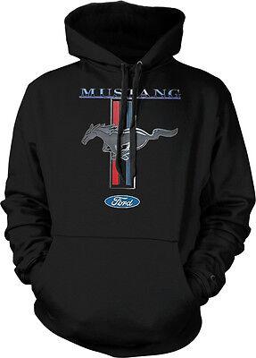 Ford Mustang Shelby Cobra Logo 5.0 Racing Car Muscle Hoodie Pullover Sweatshirt