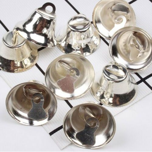 20 Pcs Puppy Dog Horn Gingle Bell Pet Silver Home Toy DIY Handmade Craft Parts