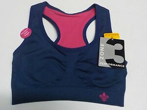 WOMENS SIZE S LILY OF FRANCE NAVY AND PINK REVERSIBLE SPORTS BRA NEW NWT #2741