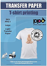 Ppd Inkjet Premium Iron On White And Light Colored T Shirt Transfers Paper Ltr