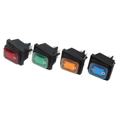Wippenschalter Wippschalter Spritzwassergeschützt Beleuchtet Schalter 250V 16A