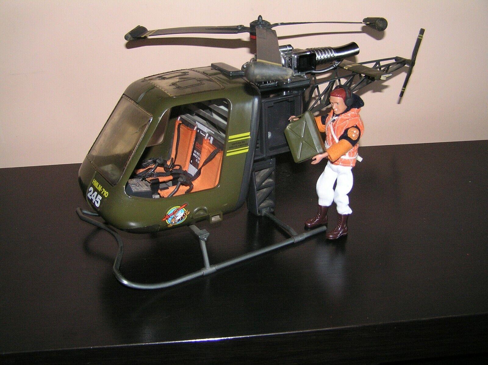 Madelman MDE Helicoptero militar original 1ª generacion con piloto y escalera