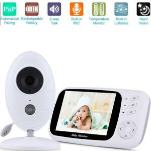 "Video Baby Monitor Camera 2-Way Talk 2.4/"" Digital Wireless Night Vision LCD BT"