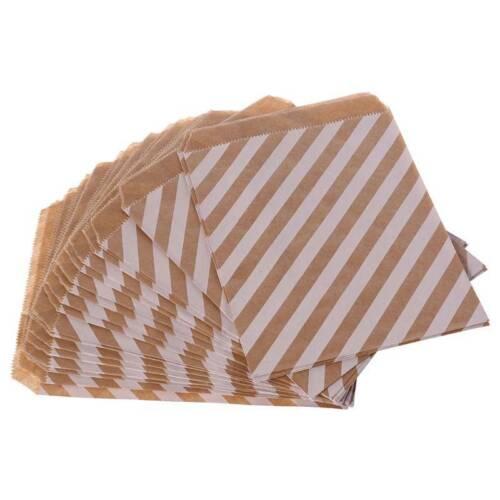 25Pcs Papier Kraft Candy Anniversaire Sac Mariage Fête Faveur Cadeau Popcorn decor