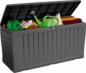 Keter Marvel Plus 270L Garden Storage Box - Grey