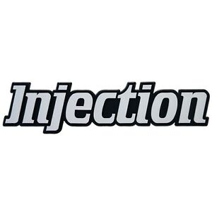 Auto-3D-Relief-Schild-Injection-Einspritzung-Aufkleber-14-cm-grau-HR-Art-14843