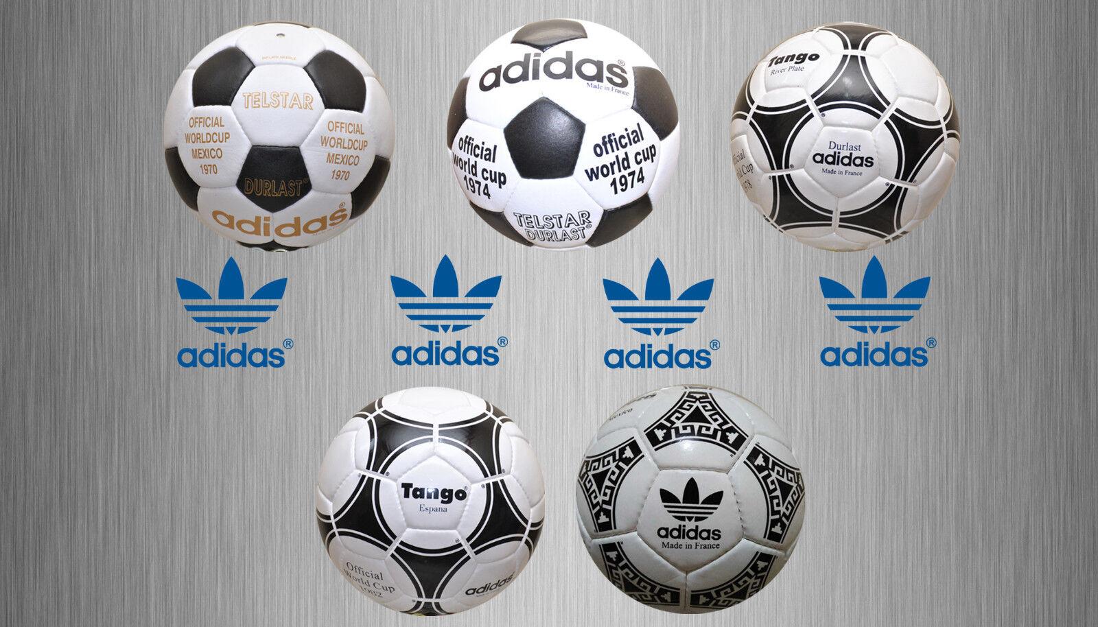 Nueva colección de Adidas World Cup balones de fútbol (de 1970 a 1986)