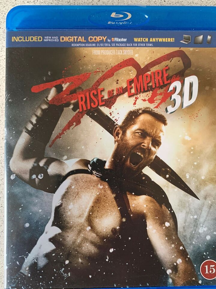 300 Rise of an empire 3D, Blu-ray, action