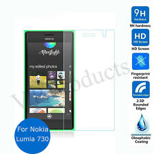 Nokia Lumia 730 Premium Curved Edges 2.5D Tempered Glass Screen Protector